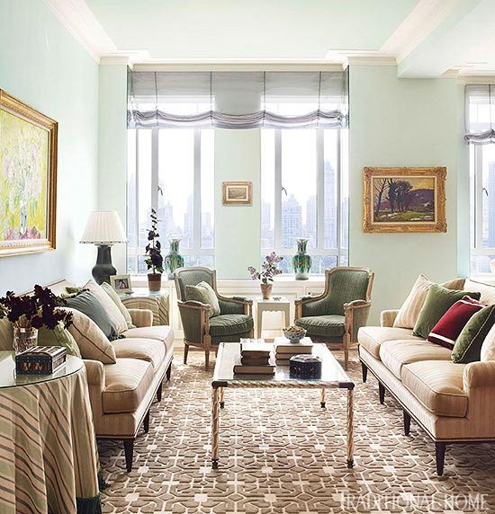 Traditional Living Room Apartment New York Apartment with Elegant British Style