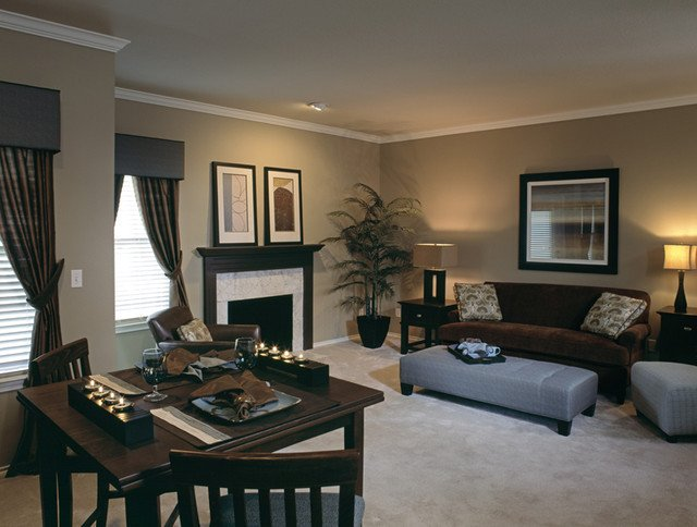 Traditional Living Room Apartment Signature Place Model Apartment by Design Connection Inc