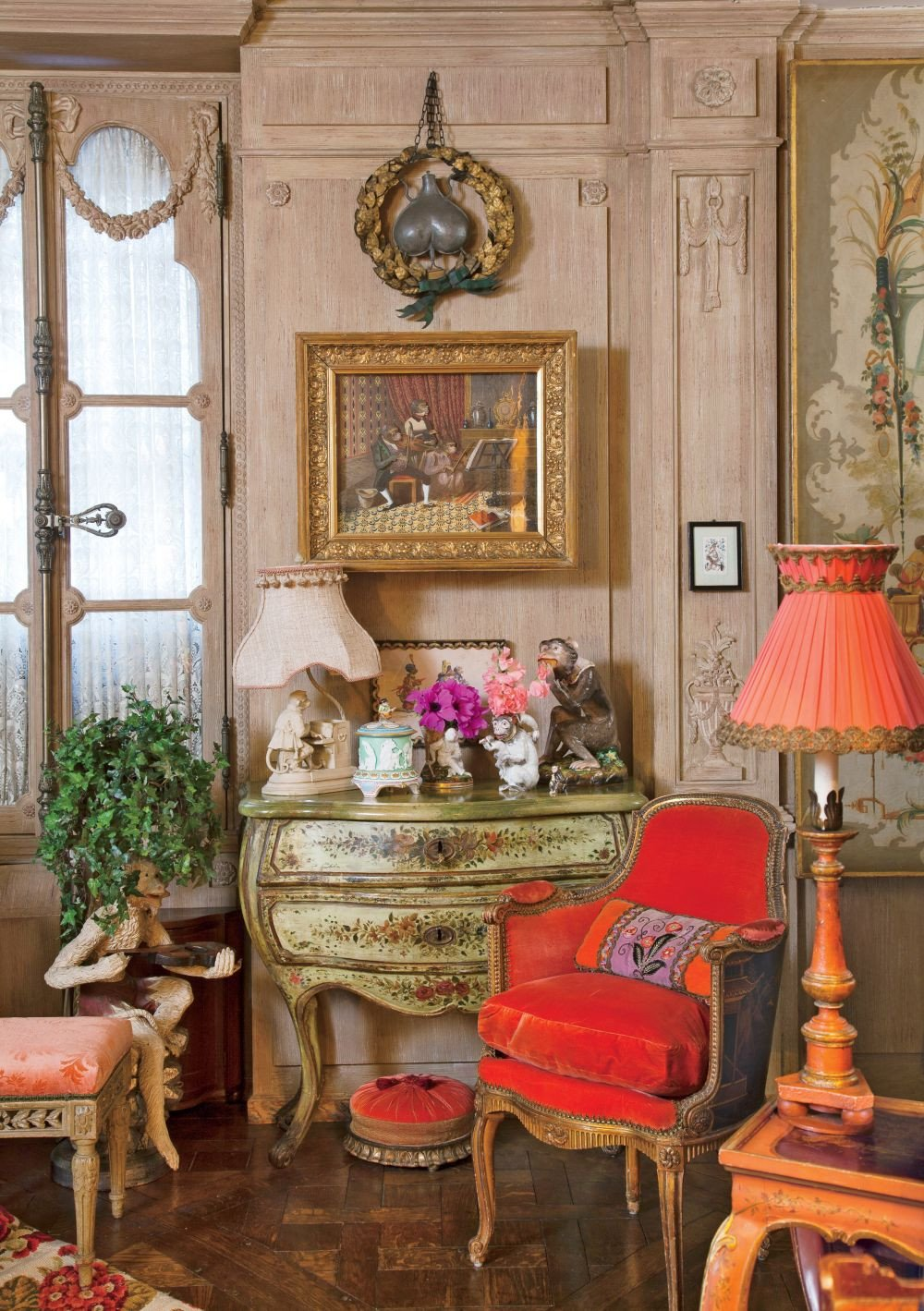 Traditional Living Room Apartment Traditional Living Room by Iris Apfel by Architectural
