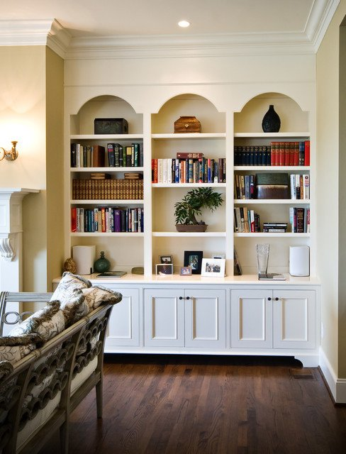 Traditional Living Room Bookcases Arched Frame Bookcases Traditional Living Room
