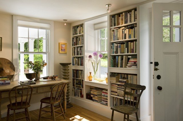 Traditional Living Room Bookcases Bookcases Flanking Window Traditional Living Room