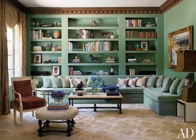 Traditional Living Room Bookcases Bookshelf Paint Ideas and Inspiration S