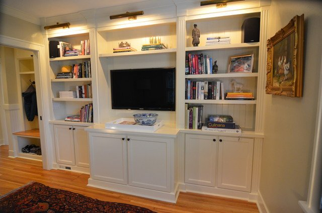 Traditional Living Room Bookcases Built In Bookcases Traditional Living Room Portland