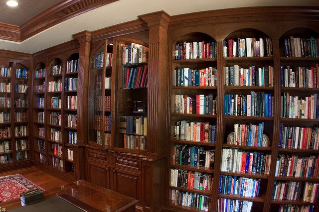 Traditional Living Room Bookcases Cherry Library Bookcases Traditional Living Room