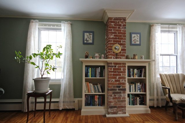 Traditional Living Room Bookcases Chimney Bookcase Traditional Living Room Portland
