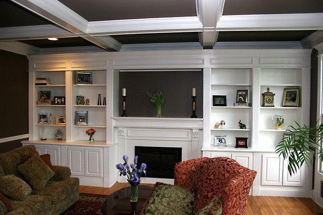 Traditional Living Room Bookcases Custom Fireplace Mantles Build Ins Traditional Living