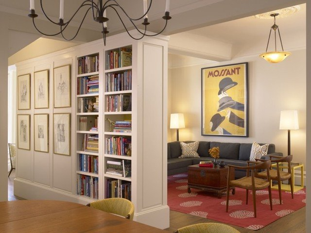 Traditional Living Room Bookcases Living Room and Bookcase Traditional Dining Room San