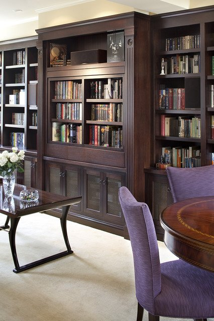 Traditional Living Room Bookcases Pivoting Tv Turning Into Bookcase Traditional Living