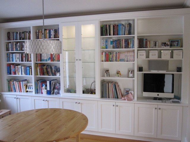 Traditional Living Room Bookcases White Bookcases with Built In Desk Traditional Living