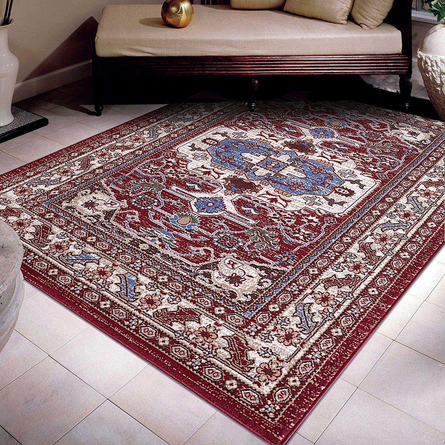 Traditional Living Room Carpets Cream Blue Red Classic Traditional Living Room Floor Rugs