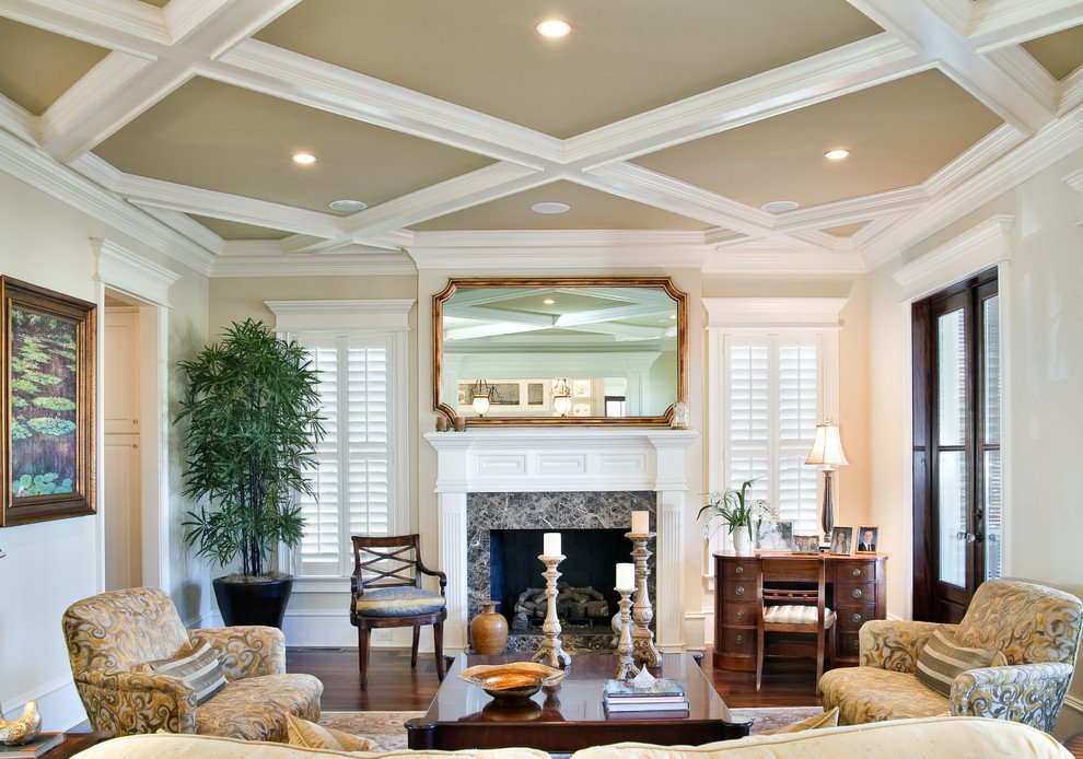 Traditional Living Room Ceiling 10 Decorative Living Room with Ceiling Molding Ideas