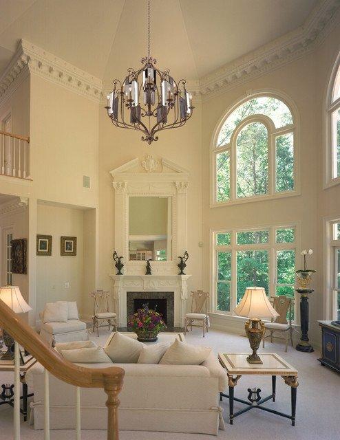 Traditional Living Room Ceiling Corbett Lighting Traditional Living Room Miami by