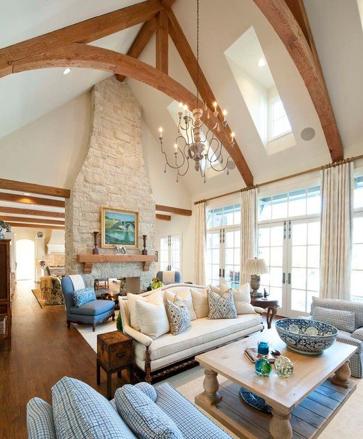 Traditional Living Room Ceiling Lupton Traditional Living Room Dallas by Danes