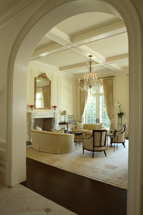 Traditional Living Room Ceiling Paula Grace Designs