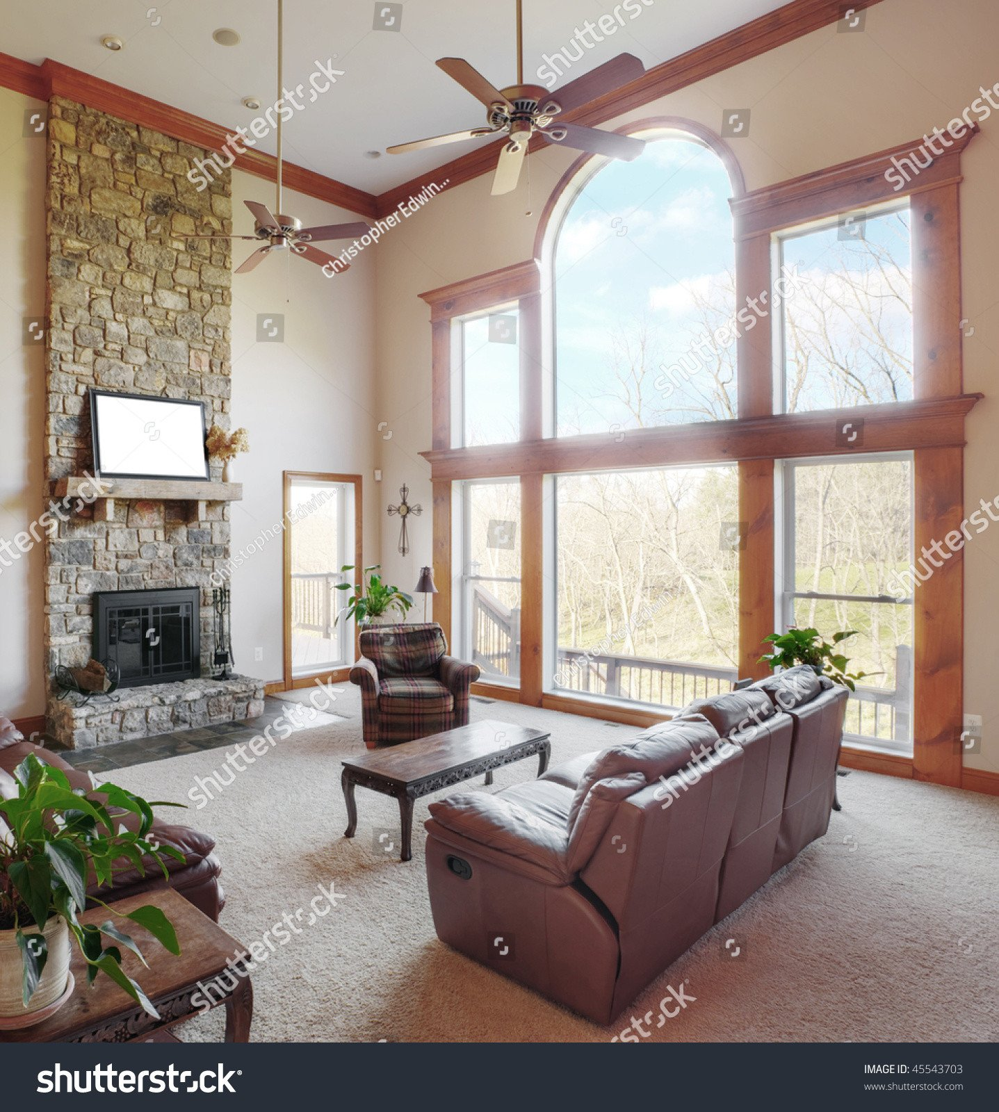 Traditional Living Room Ceiling Traditional Living Room Interior High Ceiling Stock
