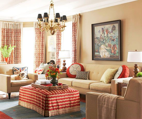 Traditional Living Room Color 2013 Traditional Living Room Decorating Ideas From Bhg
