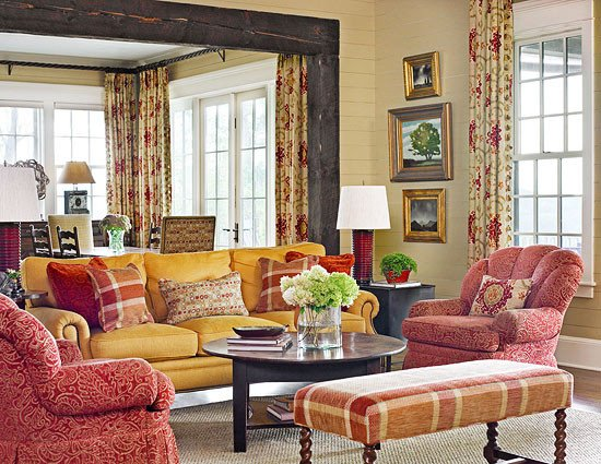 Traditional Living Room Color Lovely Mountain Summer Home with Terrific Color