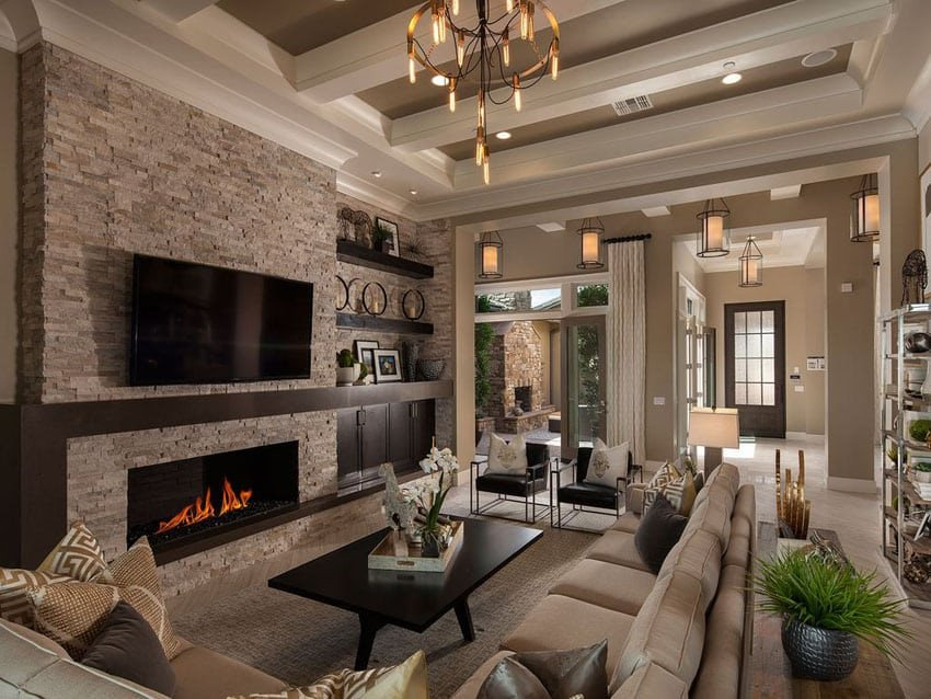 Traditional Living Room Fireplace 27 Beautiful Earth tone Living Room Designs Designing Idea
