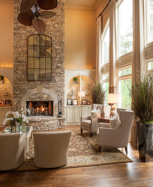 Traditional Living Room Fireplace Alpharetta Ga Residence Traditional Living Room