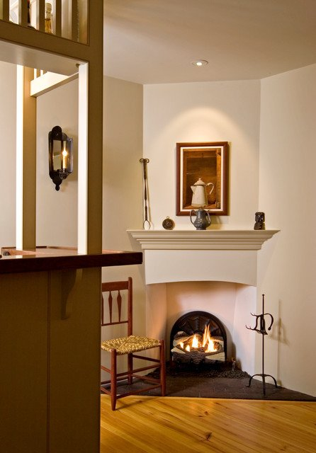 Traditional Living Room Fireplace Corner Fireplace and Tavern Bar Traditional Living