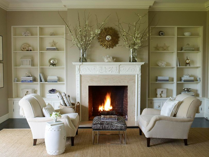 Traditional Living Room Fireplace Evergreen Custom Residence Fireplace Design Options