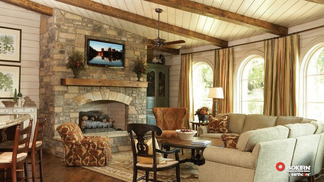 Traditional Living Room Fireplace isokern Fireplaces Traditional Living Room