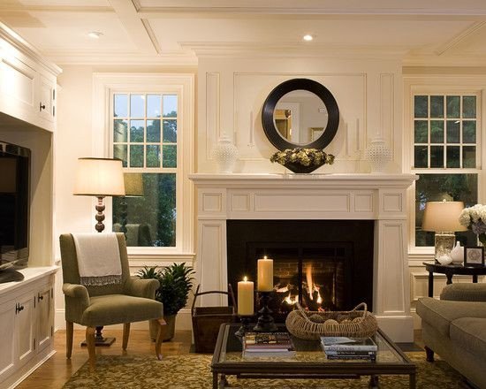 Traditional Living Room Fireplace Traditional Living Room Fireplace Design