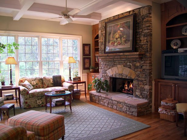 Traditional Living Room Fireplace Traditional Living Space S