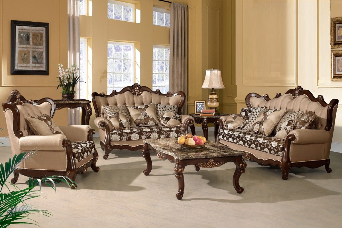 Traditional Living Room Furniture Traditional sofa Love Seat Chair 3pc Set