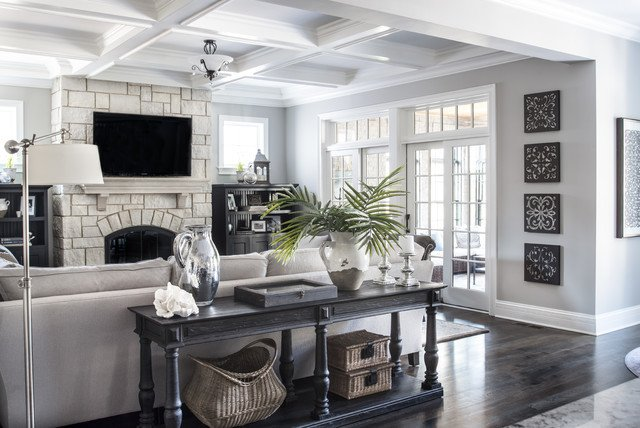 Traditional Living Room Gray Beautiful Gray Traditional Living Room Chicago by