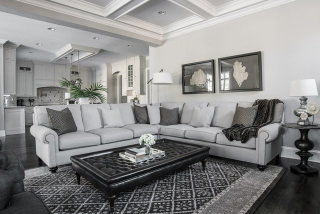Traditional Living Room Gray Beautiful Gray Traditional Living Room Other Metro