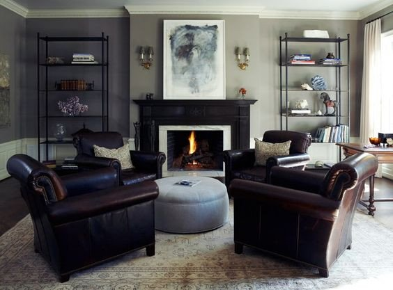 Traditional Living Room Gray Brown Furniture Gray Walls and Traditional Living Rooms