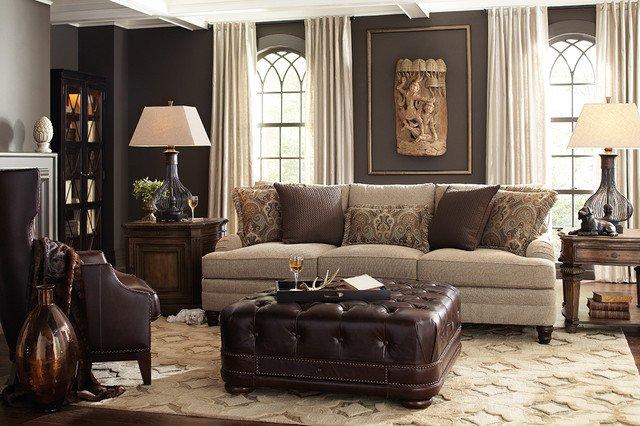 Traditional Living Room Gray Dark Gray Walls In Neutral Living Room Traditional