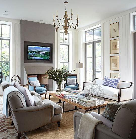 Traditional Living Room Gray Decorating Gorgeous Gray Rooms