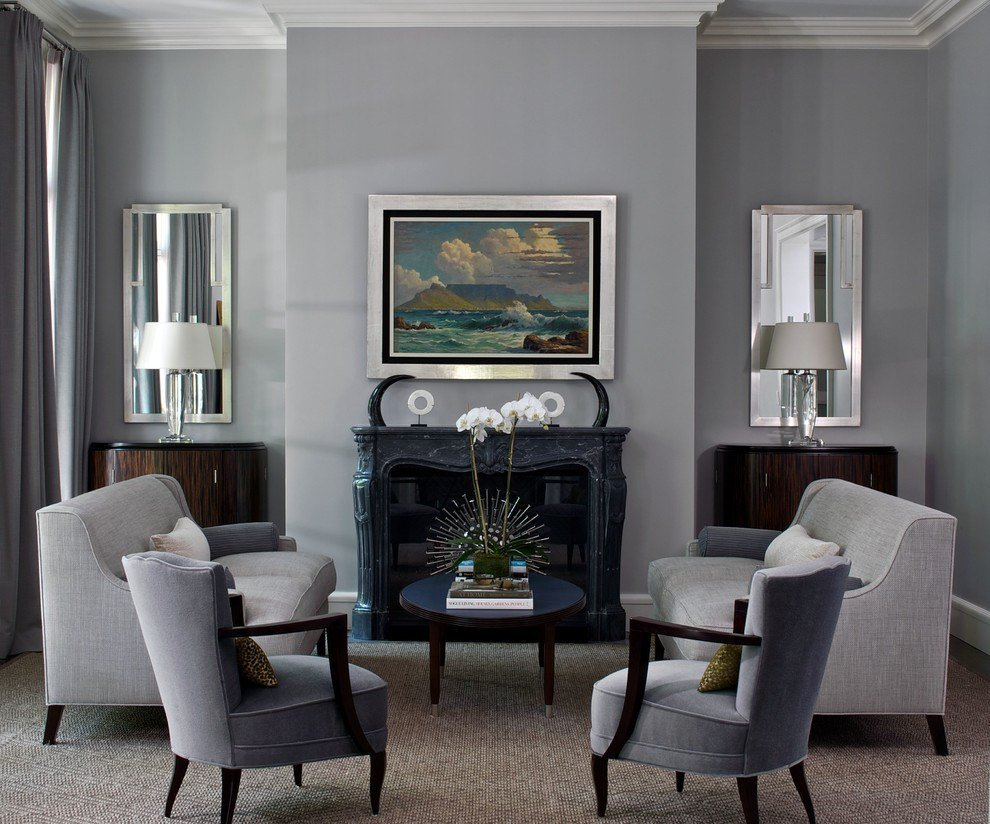Traditional Living Room Gray Elegant Gray Living Room Vogue Chicago Contemporary Living