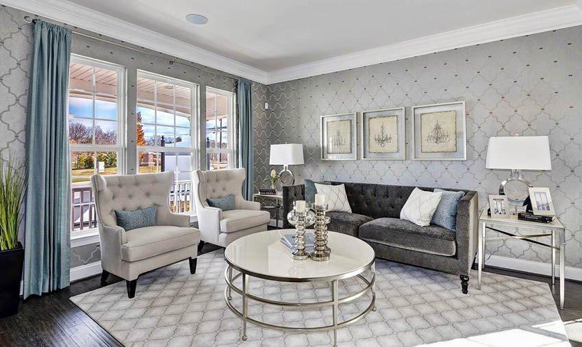 Traditional Living Room Gray Gray Living Room Ideas Design Designing Idea