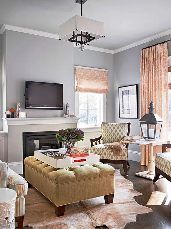 Traditional Living Room Gray Living Room Ottoman Ideas Living Rooms with Upholstered