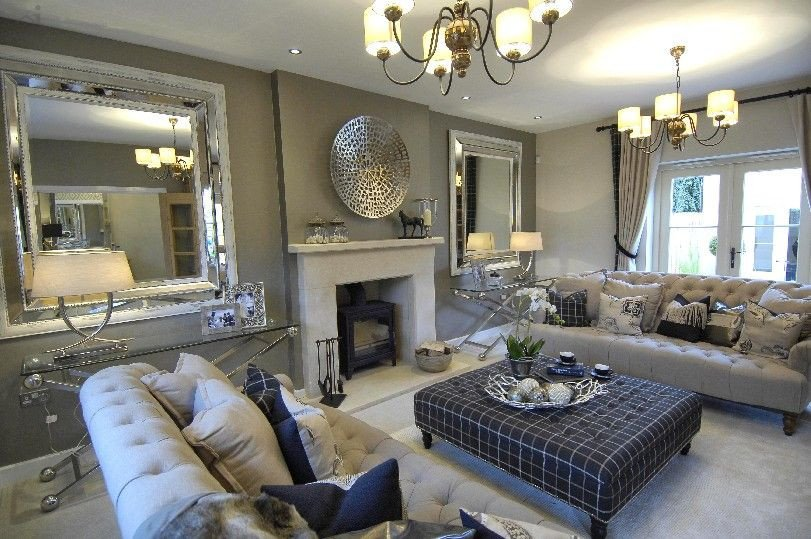 Traditional Living Room Gray New Homes Can Look Traditional Great Showhome