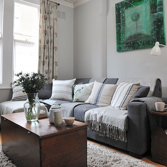 Traditional Living Room Gray Pale Grey Traditional Living Room