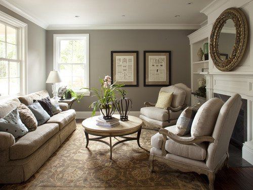 Traditional Living Room Gray the 6 Best Paint Colors that Work In Any Home