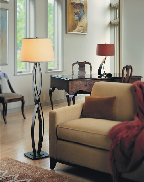 Traditional Living Room Lamps Almost Infinity Floor Lamp From Hubbardton forge Lighting