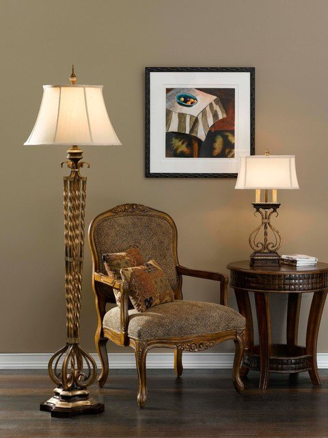 castalia floor lamp and table lamp from murray feiss lighting traditional living room