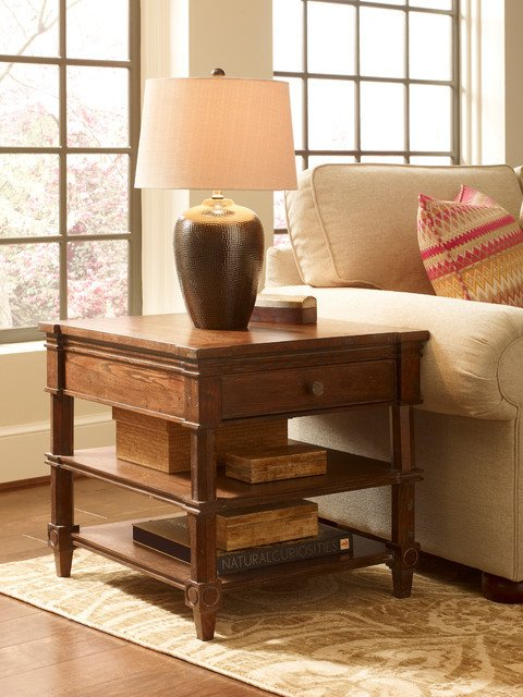 Traditional Living Room Lamps Freeport Bronze Ceramic Table Lamp with Light Beige Linen