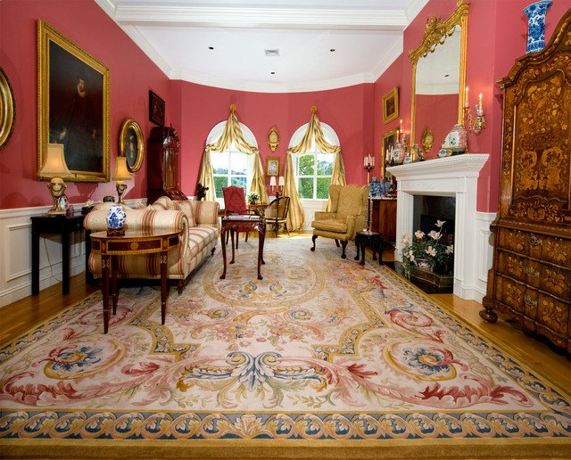 Traditional Living Room Rugs Aubusson Rug In French Style Room Traditional Living