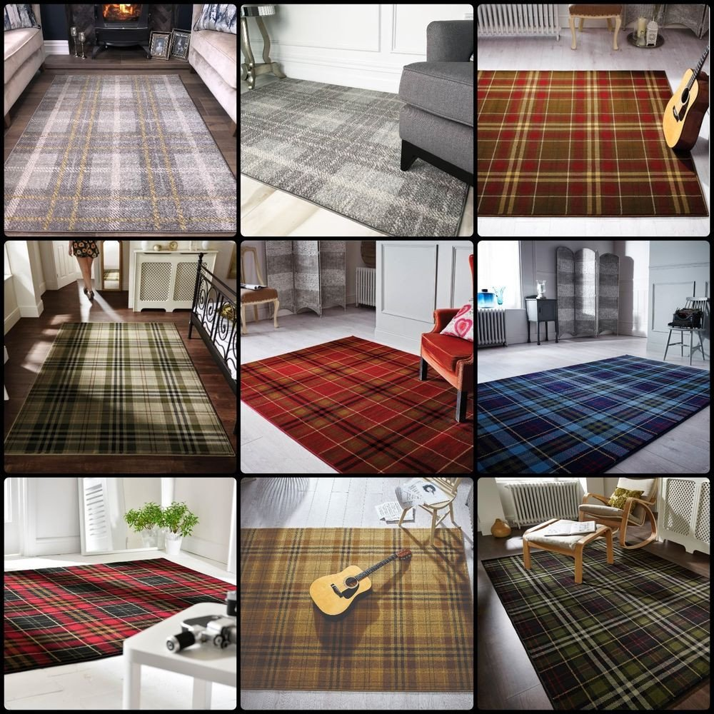 Traditional Living Room Rugs New Modern Tartan Living Room Rug soft Traditional Classic