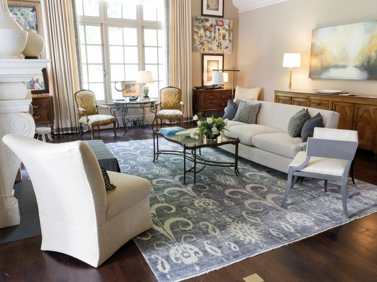 Traditional Living Room Rugs S
