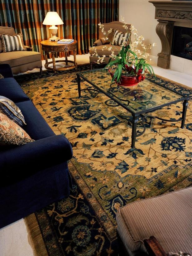 Traditional Living Room Rugs Traditional Living Room and Blue sofa