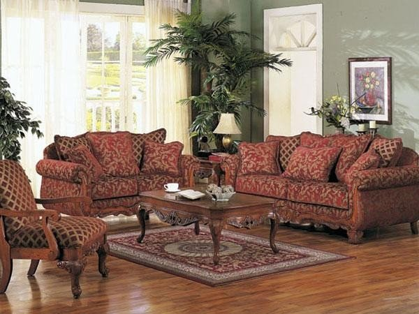 Traditional Living Room Sets Acme Furniture Georgian Court 3 Piece sofa Set 5615