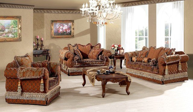 Traditional Living Room Sets Genevieve Luxury Living Room sofa Set