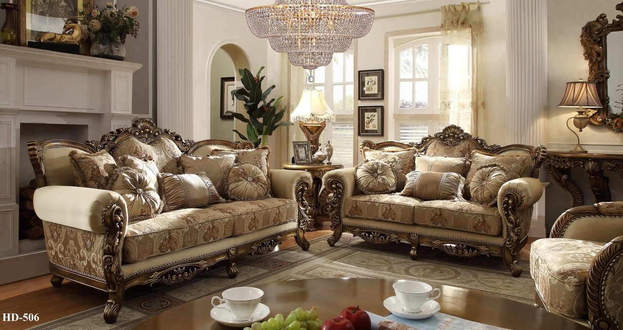 Traditional Living Room Sets Homey Design 7 Pc Italian Style Traditional Living Room